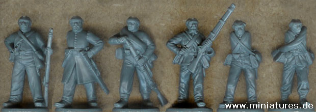 American Civil War Infantry fighting, 1:60 Perry Miniatures ACW1