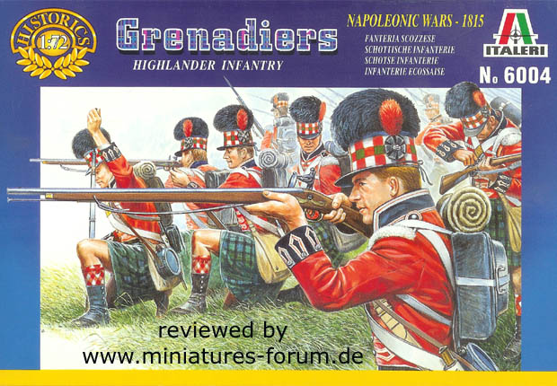 Britisches 42nd (Royal Highland) Regiment Flank Company, 1808–1815, 1:72 Figuren Italeri 6004