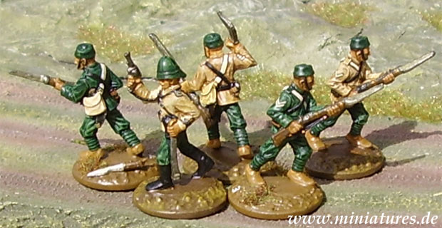 5th Gurkha (Rifle) Regiment, 25 mm Zinnfiguren Ral Partha 88-110