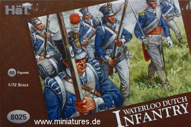 Holländische Infanterie, Waterloo 1815, 1:72 Figuren HäT Industrie 8025