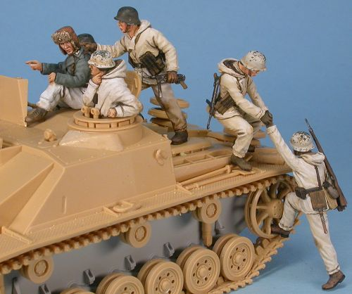 Panzergrenadiere in Wintertarnanzügen, 1:48 Figuren Gaso.line GAS50372