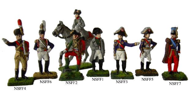 Napoleons Marschälle, 25 mm Zinnfiguren Tradition of London