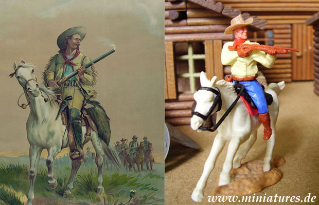 Buffalo Bill Cody, 1:32 Figur von Timpo